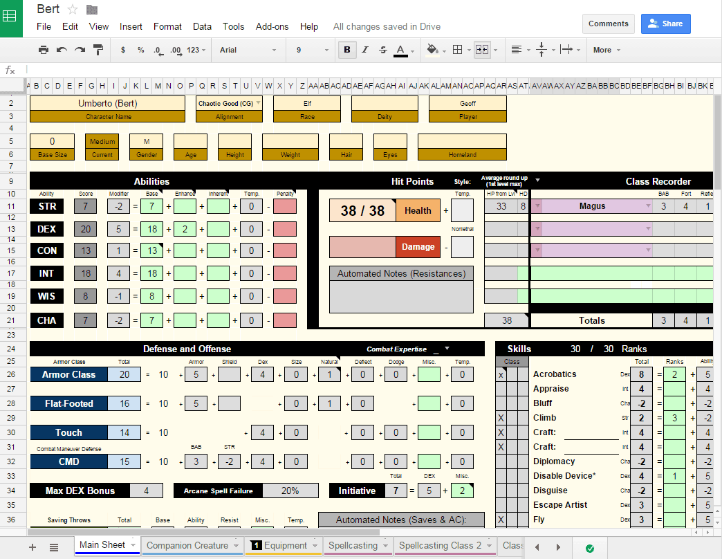 Why I Love Google Drive For Character Sheets | SyncRPG